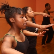 Two Origination's Teen dancers rehearse