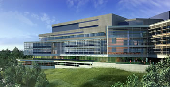 Artists Rendering of the Shapiro Science Center at Brandeis